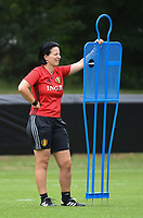 20170722 - RIJEN , NETHERLANDS : assistant coach Tamara Cassimon  pictured during the training on the pitch of VV Rijen , The Netherlands PHOTO SPORTPIX.BE | DIRK VUYLSTEKE