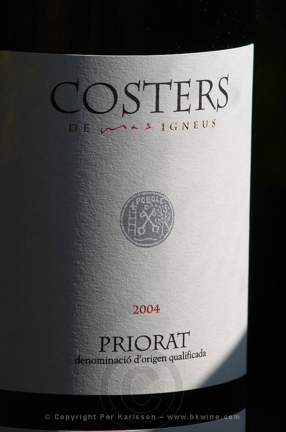 Costers 2004, label detail. Mas Igneus, Gratallops, Priorato, Catalonia, Spain.
