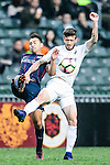 Auckland City Midfielder Fabrizio Tavano (r) fights for the ball with Thomas Lam of SC Kitchee (l) during the Nike Lunar New Year Cup 2017 match between SC Kitchee (HKG) and Auckland City FC (NZL) on January 31, 2017 in Hong Kong, Hong Kong. Photo by Marcio Rodrigo Machado / Power Sport Images
