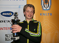 01-12-13,Netherlands, Almere,  National Tennis Center, Tennis, Winter Youth Circuit, Boys 16 years ,3 th place :  Julian Prins<br /> Photo: Henk Koster