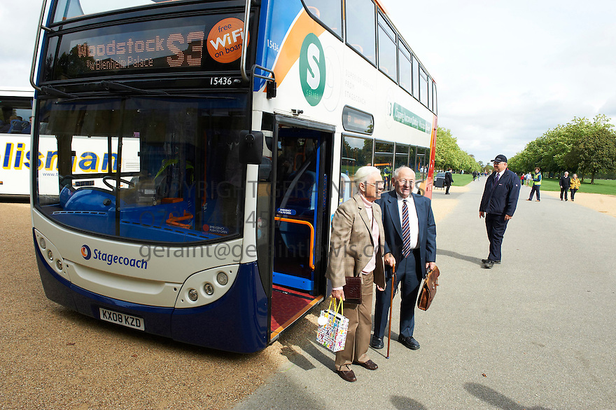 Colin Dexter,author of The Inspector Morse series of Detective novels ,the first of which was Last Bus To Woodstock  at The Woodstock Literary Festival 2010 .CREDIT Geraint Lewis