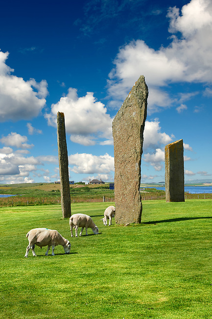 Neolithic Standing Stones of Stenness, Isle of Orkney, Scotland