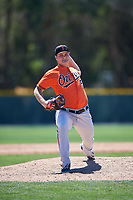 Baltimore Orioles pitcher Zach Matson (84) delivers a pitch during a minor league Spring Training game against the Minnesota Twins on March 17, 2017 at the Buck O'Neil Baseball Complex in Sarasota, Florida.  (Mike Janes/Four Seam Images)