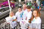 Pictured collecting on Donal's Day in Tralee town on Tuesday were, left to right: Aishlin O'Rourke, Cormac Coffey, Fionnbar Walsh, Ger O'Connor and Ríona Walsh.