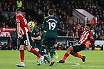 Lys Mousset of Sheffield United shoots at goal during the Premier League match at Bramall Lane, Sheffield. Picture date: 5th December 2019. Picture credit should read: James Wilson/Sportimage
