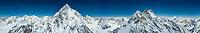 K2, Broad Peak stand tall amongst other Karakoram giants. Pakistan