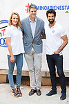 Spanish Swimmer Mireia Belmonte, Marketing director of San Miguel, Carlos Lafuente and Spanish Actor Miguel Angel Mu&ntilde;oz attends to the presentation of #Caminobienestar of San Miguel in Madrid, June 05, 2017. Spain.<br /> (ALTERPHOTOS/BorjaB.Hojas)