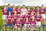 The Flesk Rangers team that played na hAinaigh in Scartaglen on Friday evening Margo Brosnan, Juilanne O'Connell, Ann Marie Nelligan. Middle row: Eilish O'Callaghan, Mellissa O'Callaghan, Norraine O'Connor, Julie Brosnan, Joanne Brosnan, Elaine O'Connor. Back row: Eileen O'Connor, Siobhain Barrett, Mary Herlihy, Mags O'Donoghue, Marian Lenihan, Megan Browne, Norita McCarthy, Noreen Browne and Siobhain Fleming