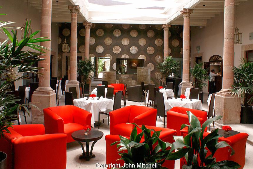 El Ochenta, an upscale restaurant  in San Miguel de Allende, Mexico. San Miguel de Allende is a UNESCO World Heritage Site....