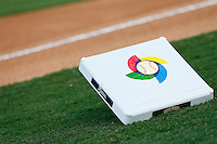 20 September 2012: Close view of a base prior to Spain 8-0 win over France, at the 2012 World Baseball Classic Qualifier round, in Jupiter, Florida, USA.