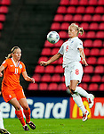 Katie Chapman, Sylvia Smit, SF, England-Holland, Women's EURO 2009 in Finland, 09062009, Tampere Ratina Stadium.