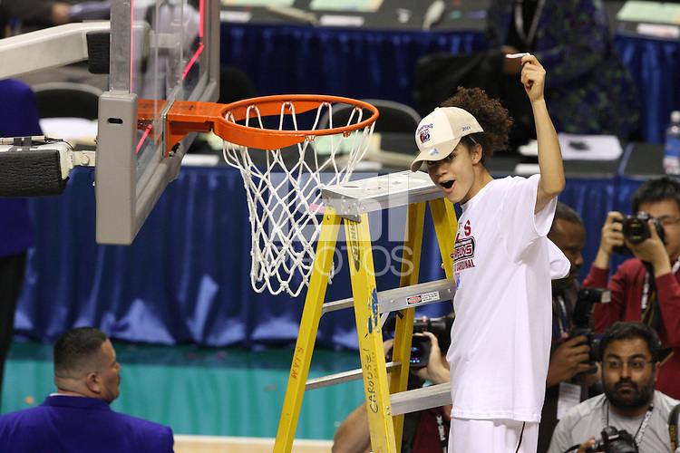 10 March 2008: Stanford Cardinal Cissy Pierce during Stanford's 56-35 win against the California Golden Bears in the 2008 State Farm Pac-10 Women's Basketball championship game at HP Pavilion in San Jose, CA.