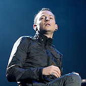 Linkin Park - lead vocalist Chester Bennington  performing live main stage as the headliner on Day One of the inaugural Sonisphere Festival held in the grounds of Knebworth House, Knebworth, UK - 01 Aug 2009 - Photo by: Zaine Lewis /IconicPix