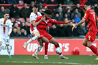 O's Lee Angol & Anthony O'Connor during Leyton Orient vs Bradford City, Sky Bet EFL League 2 Football at The Breyer Group Stadium on 14th December 2019