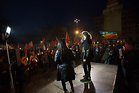"""(From R to L) Syrian and Iranian citizens.<br /> <br /> Rome, 25/01/2020. Today, Rete della Pace – supported by numerous organizations, including CGIL, ANPI and Libera – held a demonstration for Peace in Piazza dell'Esquilino called """"Spegniamo La Guerra, Accendiamo La Pace"""" (Let's turn off the war, let's turn on Peace, 1.).<br /> <br /> Footnotes & Links:<br /> 1. http://bit.do/fqxs9"""