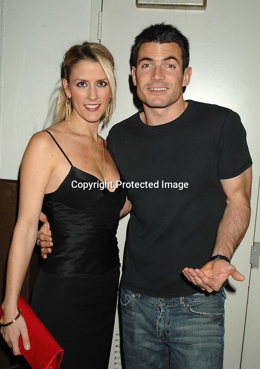 Aiden Turner  and wife Megan Marshall ..at The All My Children Christmas party on December 8, 2006 at The ABC Studio...Robin Platzer, Twin Images