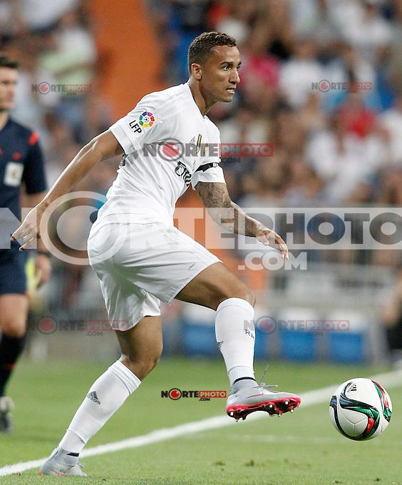 Real Madrid's Danilo Luiz da Silva during XXXVI Santiago Bernabeu Trophy. August 18,2015. (ALTERPHOTOS/Acero)