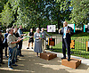 Secretary of State for Culture, Media and Sport Rt Hon Sajid Javid MP officially reopens Speakers&rsquo; Corner in Hyde Park following its refurbishment.<br /> at Speakers&rsquo; Corner, Hyde Park, London, United Kingdom. 19th June 2014 <br /> <br /> Heiko Khoo <br /> long time speaker &amp; Marxist<br /> <br /> Linda Lennon<br /> CEO <br /> Royal Parks <br /> <br /> Tony Allen <br /> regular speaker <br /> <br /> The area is an important entrance to Hyde Park and has been refurbished to ensure it continues to be a vibrant and welcoming spot for both speakers and visitors.<br /> <br /> The opening will focus on both the past and present with an exhibition on site from Sounds from the Park - a project which has gathered an archive of oral history, images and documents from Speakers&rsquo; Corner.<br /> <br /> Photograph by Elliott Franks