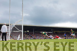 Paul Geaney Kerry scores the only goal in the  Munster Senior Football Final at Fitzgerald Stadium on Sunday.
