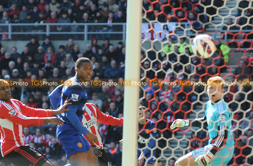 Manchester United striker Robin van Persi opens the scoring - Sunderland vs Manchester United - Barclays Premier League Football at The Stadium of Light, Sunderland, Tyne & Wear - 30/03/13 - MANDATORY CREDIT: Steven White/TGSPHOTO - Self billing applies where appropriate - 0845 094 6026 - contact@tgsphoto.co.uk - NO UNPAID USE