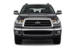 Car photography straight front view of a 2014 Toyota Sequoia SR5 5 Door SUV