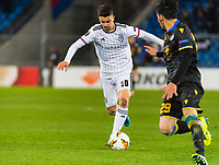 27th February 2020; St Jakob Park, Basel, Switzerland; UEFA Europa League Football, FC Basel versus APOEL Nicosia; Edon Zhegrova of FC Basel sets up and shoots towards goal