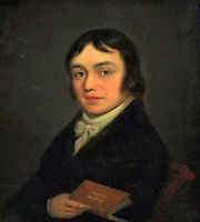 BNPS.co.uk (01202 558833)<br /> Pic:   WottonAuctionRooms/BNPS<br /> <br /> Face to face - A 'lost' portrait of the great Romantic poet Samuel Taylor Coleridge which was rediscovered after two centuries has sold at auction for £62,000.<br /> <br /> The 11ins by 10ins oil painting of William Wordsworth's collaborator was bought into an auction house in south Gloucestershire by a local family who were 'decluttering' their house.<br /> <br /> Its reverse carries an inscription by the painter, William Shuter, stating the subject was Coleridge and the sitting was at Nether Stowey in Somerset, where the poet lived between 1797 and 1800.<br /> <br /> The portrait sparked a bidding war when it went under the hammer with Wotton Auction Rooms, achieving 62 times it's £1,000 pre-sale estimate.<br /> <br /> Shuter did a very similar portrait of Wordsworth, leading to the possibility they may have sat for a joint commission. The portrait of Wordsworth is in the Cornell University Library in New York.