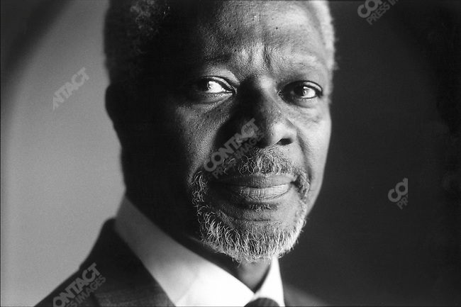 Kofi ANNAN.U.N. Secretary General.New Delhi, India.March 2001..2001 © David BURNETT / CONTACT Press Images
