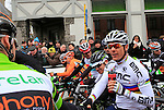 World Champion Philippe Gilbert (BEL) BMC Racing Team on the start line of the 56th edition of the E3 Harelbeke, Belgium, 22nd  March 2013 (Photo by Eoin Clarke 2013)