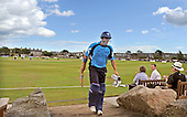 Scottish Saltires V Leicester Foxes, CB40 series, at Mannofield, Aberdeen - the end of a 17 international batting career came for Scotland's Gavin Hamilton with an lbw decision, for 22 runs - Picture by Donald MacLeod 22.06.10 - mobile 07702 319 738 - words (if required) from William Dick 077707 83923