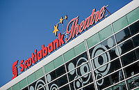 The Scotiabank Theatre is pictured in Toronto April 19, 2010. Scotiabank Theatres are flagship locations of Cineplex Entertainment LP (French: Cineplex Divertissement) the largest Canadian operator of movie theatres.