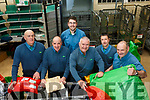 Working hard at the An Post Edward St Sorting Center in Tralee on Monday evening last are l to r;  Pat Walsh, John White, Alan O'Sullivan, Martin Farrell, Paul Greensmith and Michael O'Callaghan.