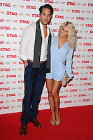 """Diags and Danielle Armstrong arrives for the premiere of """"The Stag"""" at the Vue Leicester Square, London. 13/03/2014 Picture by: Steve Vas / Featureflash"""