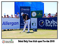 Shane Lowry (IRL) tees off the 10th tee during Wednesday's Pro-Am of the 2018 Dubai Duty Free Irish Open, held at Ballyliffin Golf Club, Ireland. 4th July 2018.<br /> Picture: Eoin Clarke | Golffile<br /> <br /> <br /> All photos usage must carry mandatory copyright credit (&copy; Golffile | Eoin Clarke)