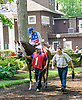 Likeagirl with Tara Hynes aboard before The International Ladies Fegentri race at Delaware Park on 6/13/17