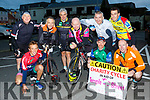 Cyclists who left Killarney on Saturday morning for their cycle to Dublin in aid of Temple Street Childrens University Hospital front row l-r: Arthur Fitzgerald, Declan O'donoghue and Seamus Moynihan. Back row: Sean Moynihan Tim, Mike O'Donoghue, Jimmy Kelly, Denis Murphy and Declan Tangney