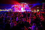 Fans await AC/DC's performance at the end of the night at the Coachella Valley Music and Arts Festival in Indio, California April 10, 2015. (Photo by Kendrick Brinson)