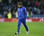 Despite the win a downbeat Antonio Conte manager of Chelsea walks off during the premier league match at the Turf Moor Stadium, Burnley. Picture date 19th April 2018. Picture credit should read: Simon Bellis/Sportimage