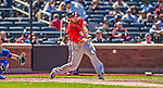 21 April 2013: Washington Nationals outfielder Jayson Werth in action against the New York Mets at Citi Field in Flushing, NY. The Mets shut out the visiting Nationals 2-0, taking the rubber match of their 3-game weekend series. Mandatory Credit: Ed Wolfstein Photo *** RAW (NEF) Image File Available ***