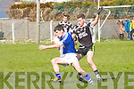 Fionan Horgan,(Ardfert) in action with Sean Cournane (St Mary's) in the County League Division 3 Round 2 at Ardfert GAA Grounds on Sunday.