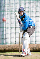 Picture by Allan McKenzie/SWpix.com - 05/04/2018 - Cricket - Yorkshire County Cricket Club Training - Headingley Cricket Ground, Leeds, England - Jack Leaning bats in the nets.