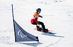 PyeongChang 10/3/2018 - Colton Liddle during a snowboard cross training session at the Jeongseon Alpine Centre during the 2018 Winter Paralympic Games in Pyeongchang, Korea. Photo: Dave Holland/Canadian Paralympic Committee