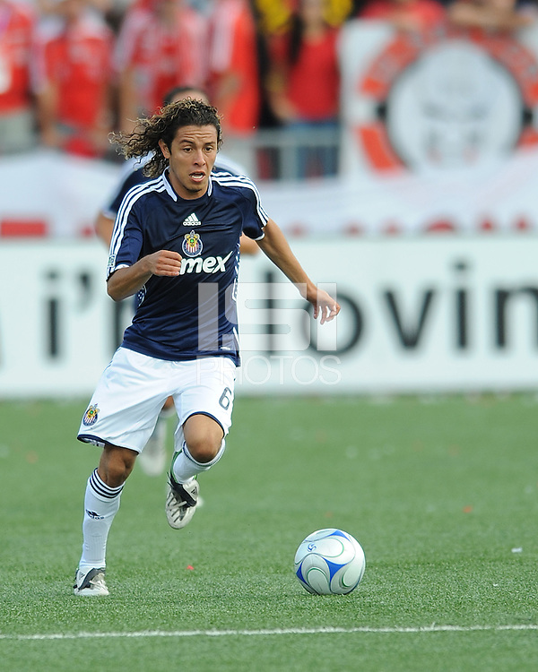 Francisco Mendoza (6) of Chivas USA in action at BMO Field. Chivas won 3-1.
