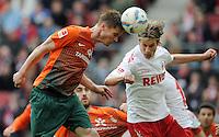 FUSSBALL   1. BUNDESLIGA   SAISON 2011/2012   29. SPIELTAG 1. FC Koeln - SV Werder Bremen                           07.04.2012 Markus Rosenberg (li, SV Werder Bremen) gegen Martin Lanig (re, 1. FC Koeln)