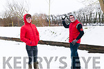 Jamie Leahy & Sean Halpin enjoying the snow in Listowel on Friday last.