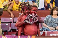 Landover, MD - SEPT 3, 2017: Virginia Tech fans before kickoff of the game between West Virginia and Virginia Tech at FedEx Field in Landover, MD. (Photo by Phil Peters/Media Images International)