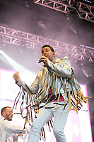 LONDON, ENGLAND - JULY 10: Lee Latchford-Evans of 'Steps' performing at Kew the Music, Kew Gardens on July 10, 2018 in London, England.<br /> CAP/MAR<br /> &copy;MAR/Capital Pictures