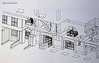 Isometric representation of Colosseum animal cage system, Rome, Italy