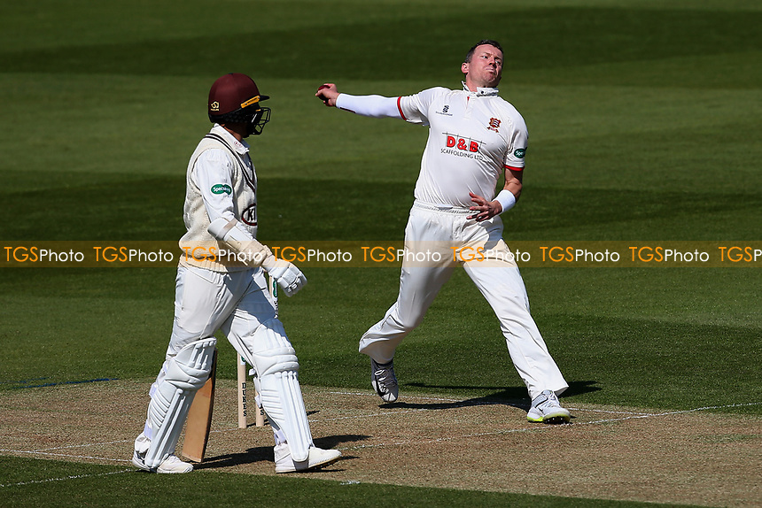 Peter Siddle in bowling action for Essex during Surrey CCC vs Essex CCC, Specsavers County Championship Division 1 Cricket at the Kia Oval on 11th April 2019