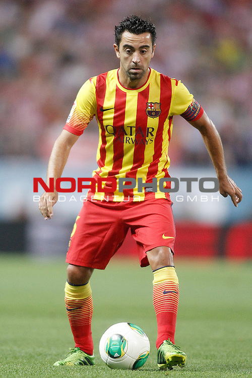 FC Barcelona's Xavi Hernandez during Supercup of Spain 1st match.August 21,2013. Foto © nph / Acero)